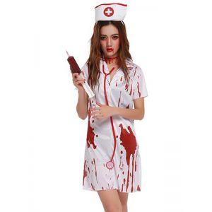 White One Size Sexy Nurse Costume