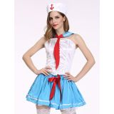 Blue M&L Cute Sailor Costume