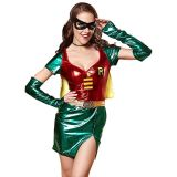 Green M&L Women Cosplay Super Heroine Costume