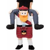 Red One Size Scotsman Carry Me Mascot Costume