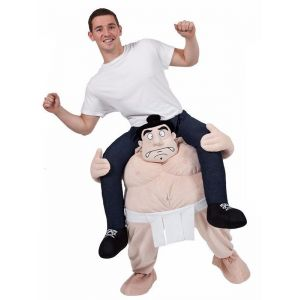 Apricot One Size Sumo Wrestler Carry Me Mascot Costume