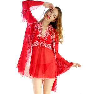 Red One Size Sexy Lace Babydoll Lingerie