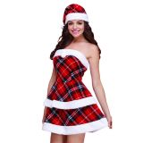 Red One Size Sexy Women Christmas Costume