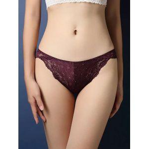 Purple One Size Lace Patchwork Panties