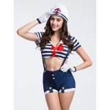 Blue M&XL Sexy Girl Sailor Costume