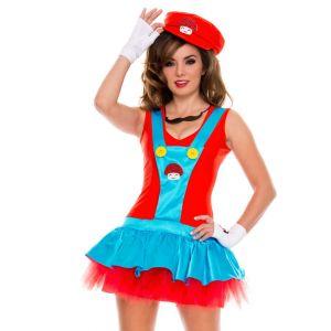 Lovely Sleeveless Mario Cosplay Costume