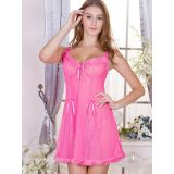 6 Colors One Size Adjustable Straps Babydoll Lingerie