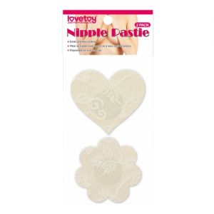 Lace Heart and Flower Nipple Pasties (2 Pack)