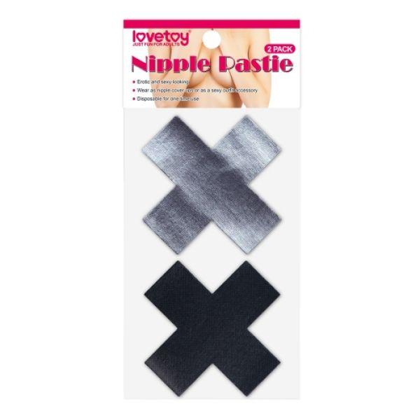 Cross Pattern Nipple Pasties (2 Pack)
