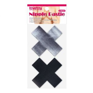 Cross Pattern Nipple Pasties (2 Pack) - Стикини (на соски)