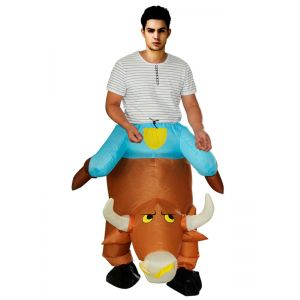 Brown One Size Inflatable Cow Mascot Costume