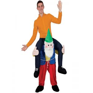 Red One Size Gnome Carry Me Mascot Costume