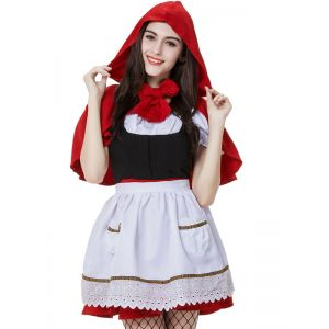 White S-XXL Little Red Riding hood Costume