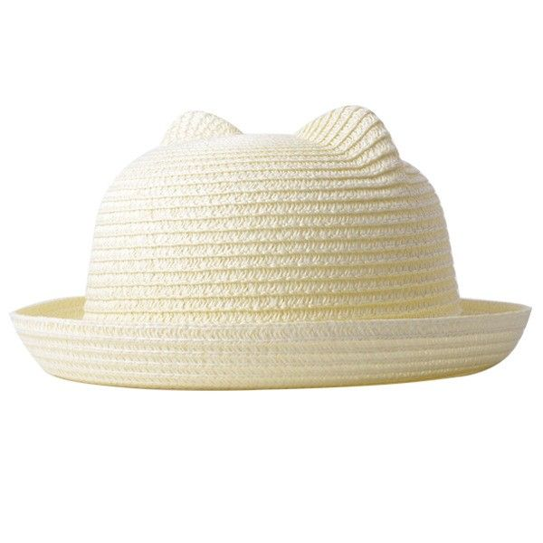 РАСПРОДАЖА! Соломенная шляпка с кошачЬими ушками