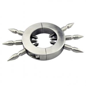 Round lock with 6 removable spikes stainless steel