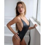 SALE! Fusion black leotard with thin long straps