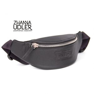 SALE! Black banana leather Udler
