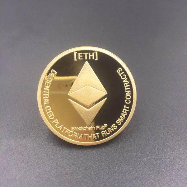 РАСПРОДАЖА! Сувенирная монета coin Ethereum