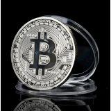 РАСПРОДАЖА! Сувенирная монета coin Bitcoin серебро по оптовой цене