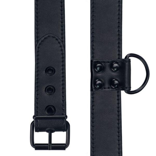 BDSM (БДСМ) - <? print Черный матовый воротник с поводком Bondage Fetish Black Matt Collar With Leash; ?>