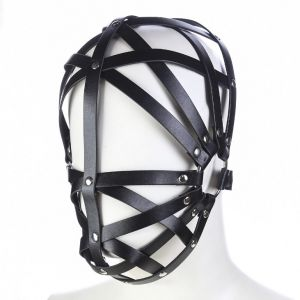 Leather Black bondage Hoods