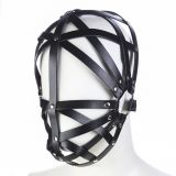 БДСМ - Leather Black bondage Hoods