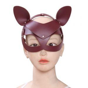 Кожаная БДСМ маска лисы
