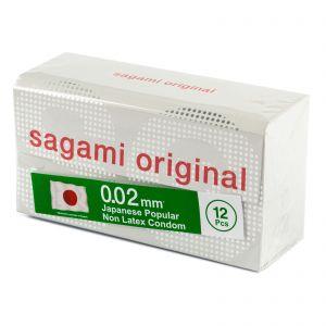Полиуретановые презервативы Sagami Original 0.02мм, 12 шт