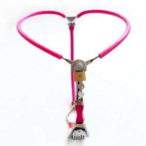 Female Stainles Steel stealth Adjustable Chastity Belt Device