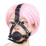 БДСМ - Harness Metal Nose Hook Silicone Ball Mouth Gags