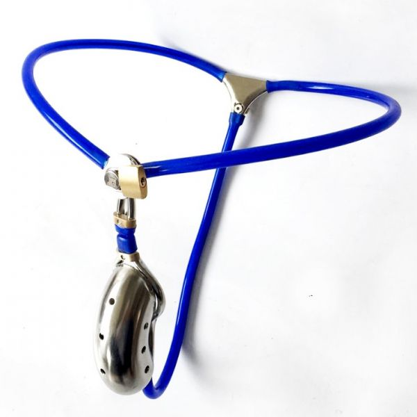 BDSM (БДСМ) - Male Stainles Steel Adjustable Chastity Belt Device With Defecation Hole Cage