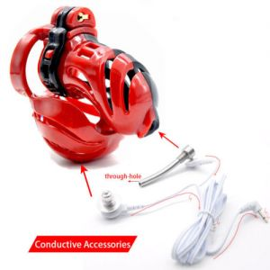 Electro-sex New 3D Design Male Polyethylene Chastity Integrative Device