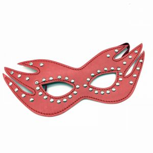 Leather Cat Mask Red