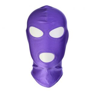 Purple high Elasticity hood showing Mouth and Eyes