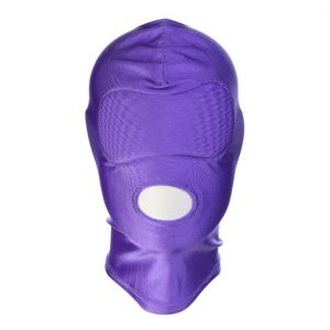 Purple high Elasticity hood showing Mouth