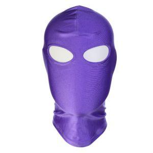 Purple high Elasticity hood showing Eyes