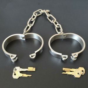 Female Latest Design Male Bolt Lock Stainless Steel Anklets