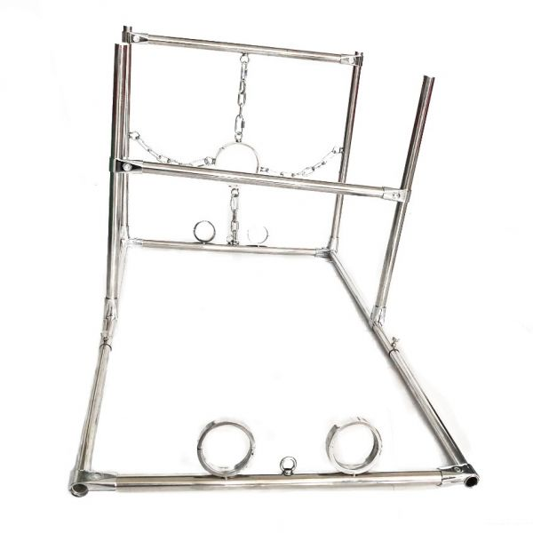 BDSM (БДСМ) - <? print Male Stainless steel Shackles Hand Ankle Neck Fixed Shelf; ?>