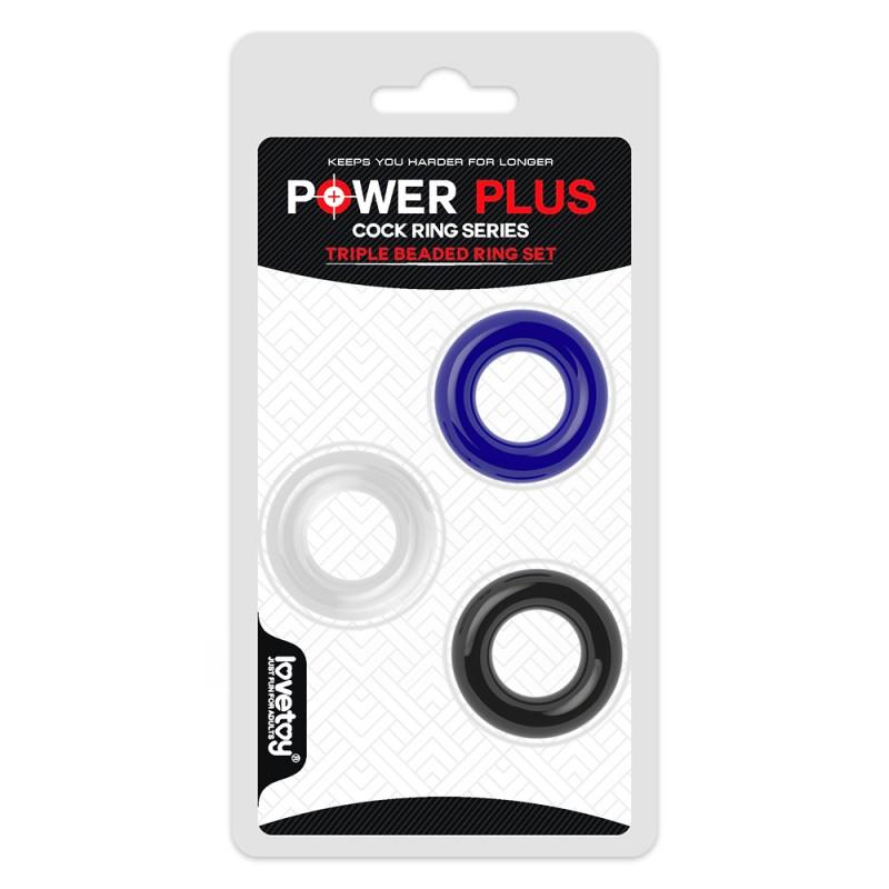 Power Plus Triple Donut Ring Set
