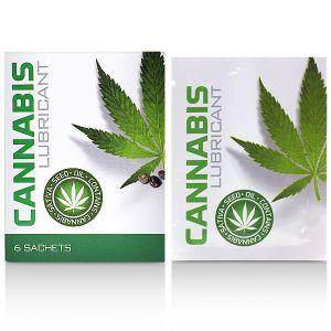 Водный лубрикант Cobeco Cannabis Lube Sachets (6pcsx4ml)