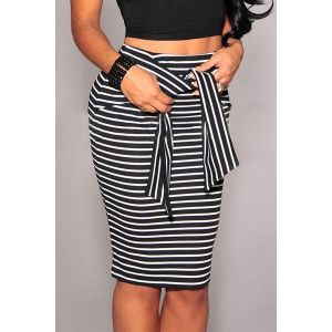 SALE! Striped black and white skirt