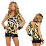 РАСПРОДАЖА! Ассиметричное мини- платье с геометрическим принтом