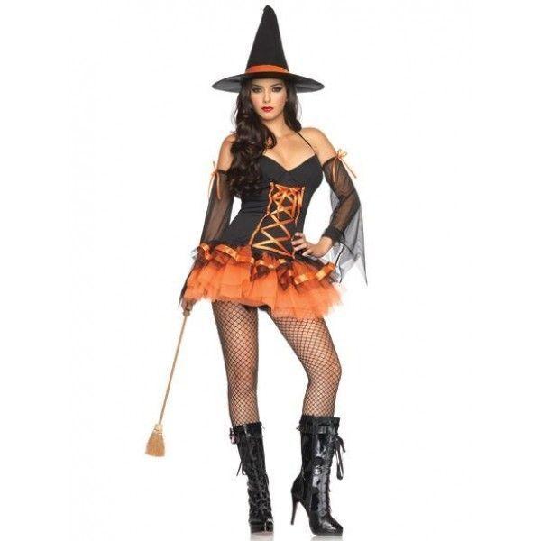 РАСПРОДАЖА! Костюм ведьмочки с оранжевой пачкой