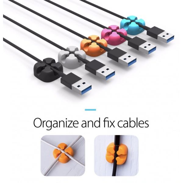 Комплект из 3-х держателей для проводов