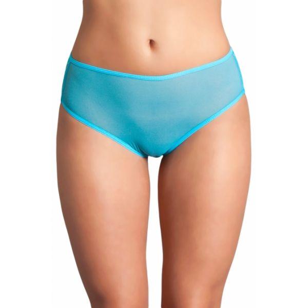 Turquoise Cutout Lace Back Peekaboo Panty