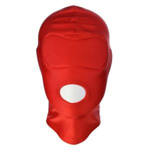 Red High Elasticity Hood Showing Mouth