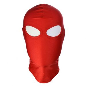 Red High Elasticity Hood Showing Eyes