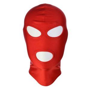 Red High Elasticity Hood Showing Mouth and Eyes