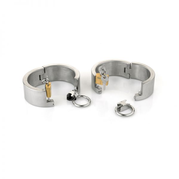 BDSM (БДСМ) - <? print Female Ellipse Stainless Steel Heavy Duty Wrist Restraints Oval Shaped with Brass Lock Joints; ?>