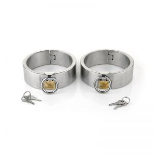 Female Ellipse Stainless Steel Heavy Duty Ankle Restraints Oval Shaped with Brass Lock Joints